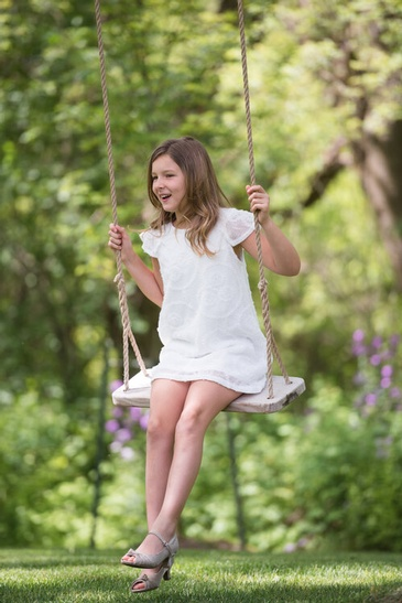 Young Girl on Swing - Family Photography Hamilton by Devon Crowell