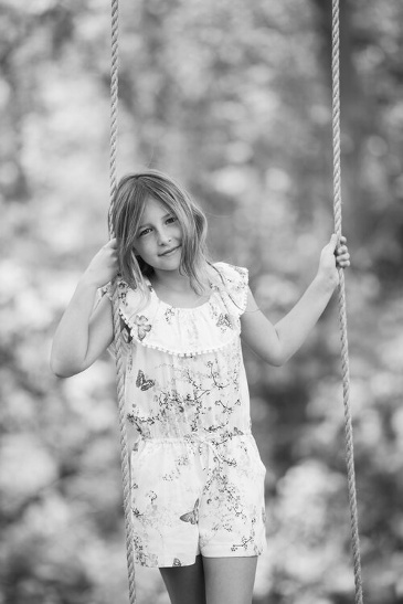 Young Girl on a Swing - Family Portrait Photography Toronto by Devon Crowell
