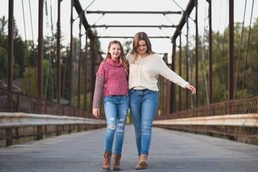 Mother Daughter Walking on a Bridge - Family Portrait Photography Guelph by Devon Crowell