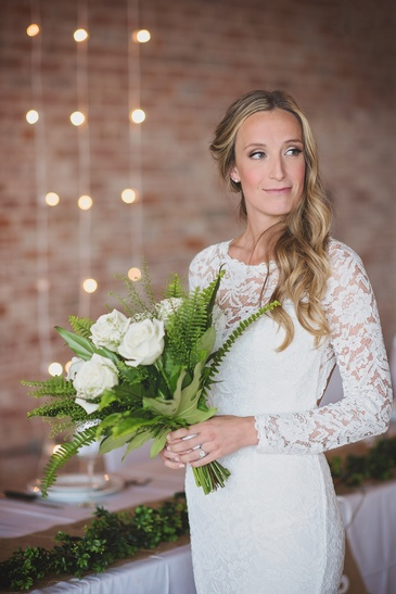 Bride with a Bouquet of Flowers - Wedding Photography Kitchener by Devon C Photography